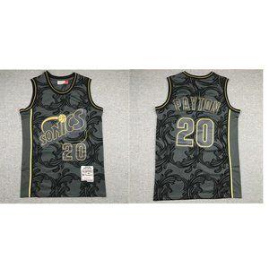 Shirts - Seattle Sonics Gary Payton Black Jersey